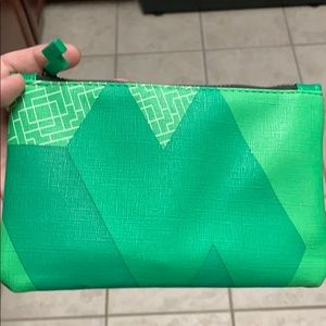 Green Tetris makeup bag
